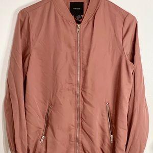 Forever 21 Blush Pink Bomber Jacket